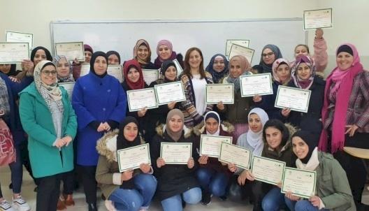 Vitas Palestine graduates a group of students from INASH AL USRA Association